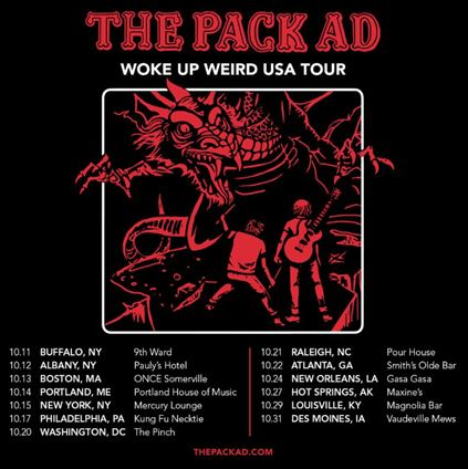 The Pack AD Woke Up Weird USA Tour Poster